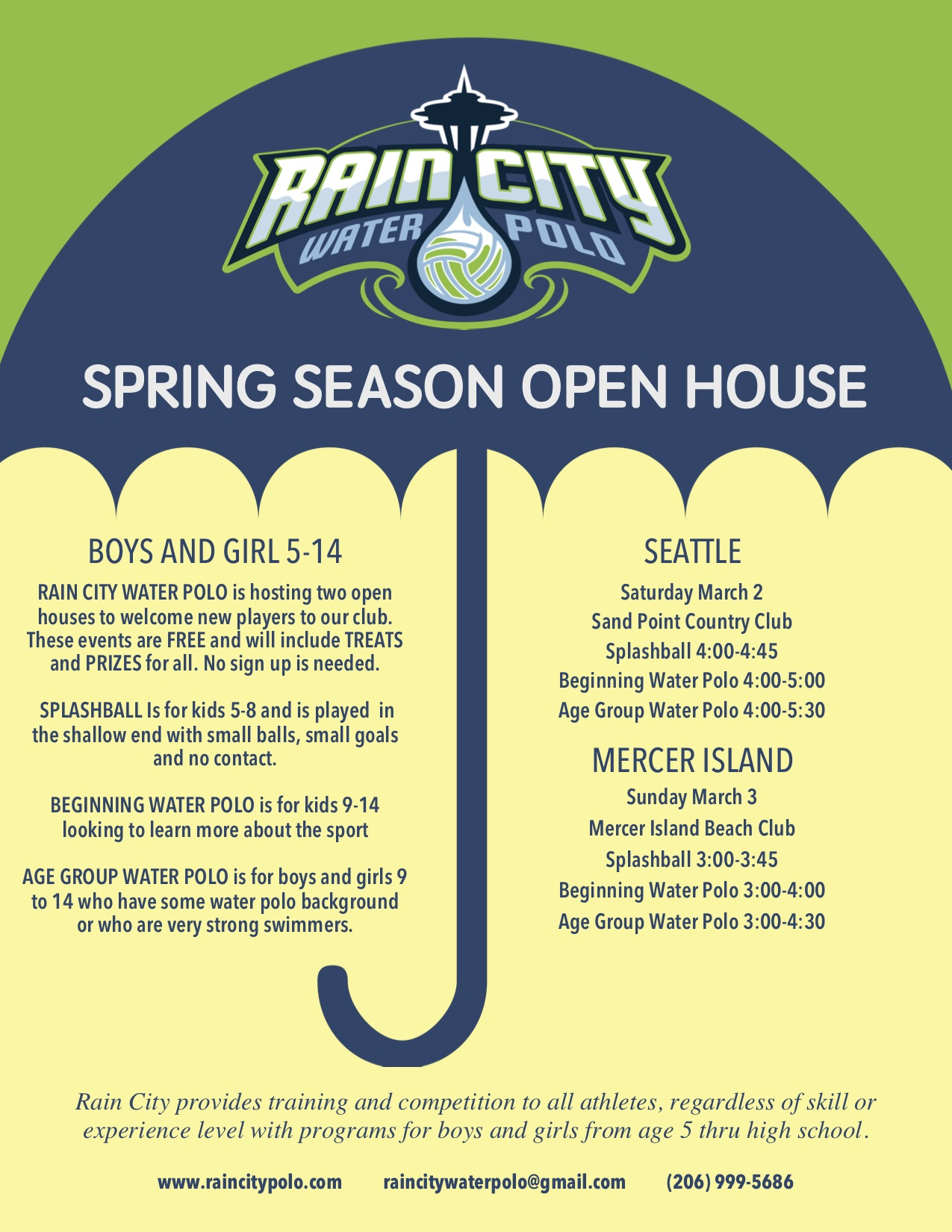 Spring Open House Sara From Sincerly Sara D: Seattle-area Water Polo Club For